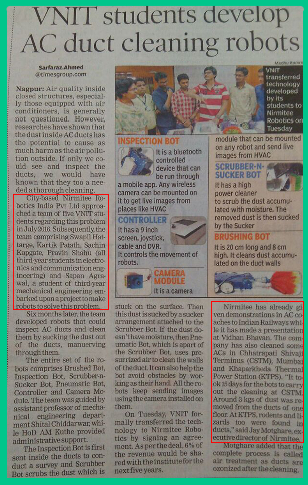 NRIPL in the News